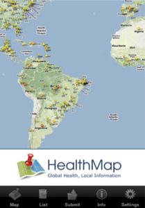 HealthMap Iphone App