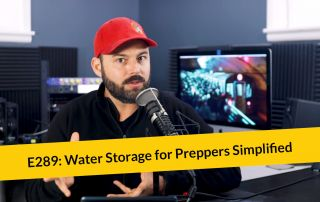 E289: Water Storage for Preppers Simplified